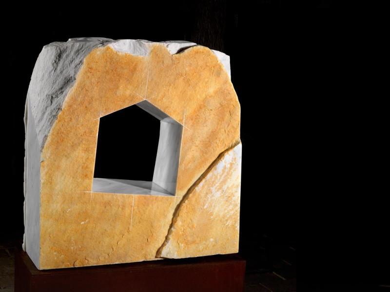 Poeticamente abita l'uomo - marble and polish, 1998